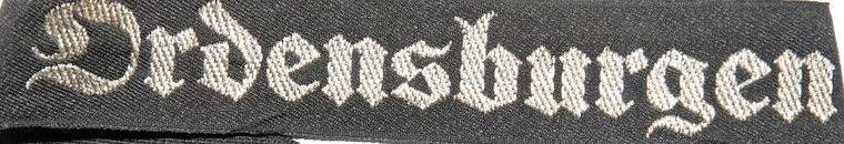 Манжетные ленты преподавательского состава «Ordensburgen» Гитлерюгенда.