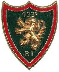 Знаки 133-го пехотного полка.