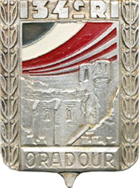 Знаки 134-го пехотного полка.