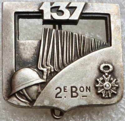 Знак 137-го пехотного полка.