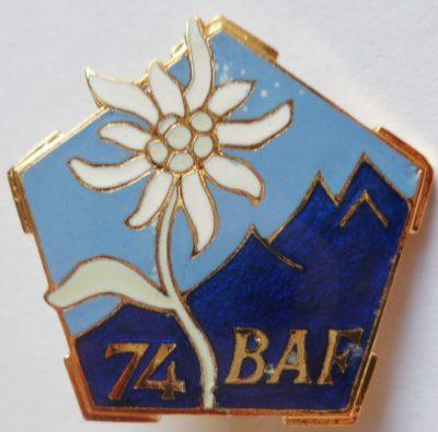 Аверс и реверс знака 74-го альпийского батальона.