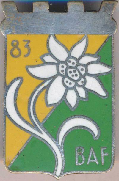 Аверс и реверс знака 83-го альпийского батальона.