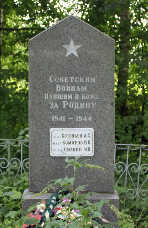 д. Старополье Сланцевского р-на. Памятник, установленный на братской могиле, в которой похоронено 5 советских воинов, в т.ч. 1 неизвестный.