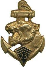 Знак 23-го полка морской пехоты.
