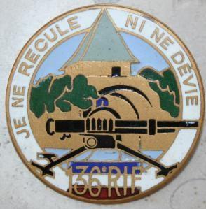 Знак 136-го сержантского пехотного полка.