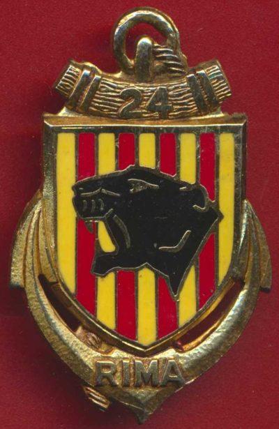 Знак 24-го полка морской пехоты.
