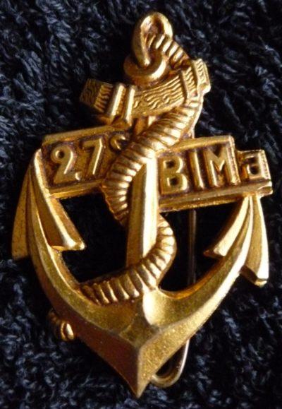 Знак 27-го полка морской пехоты.