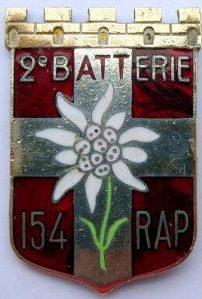 Знак 154-го артиллерийского полка.