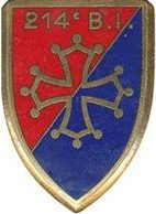 Знак 214-го пехотного полка.