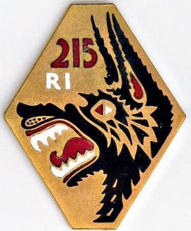 Знак 215-го пехотного полка.
