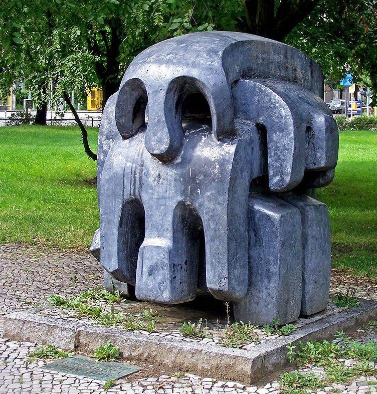 г. Берлин, Треблинка. Мемориал погибшим 900 тысячам восточным евреям. Скульптор - Вадиму Сидуру.