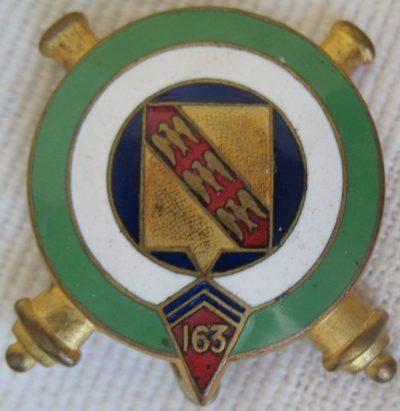 Знаки 163-го полевого артиллерийского полка.