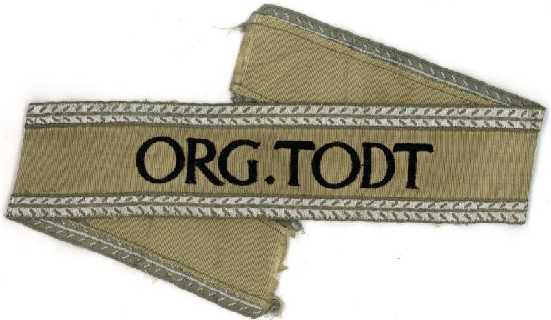 Манжетные ленты организации Тодта.