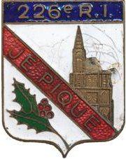 Знак 226-го пехотного полка.