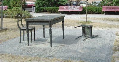 г. Берлин. Памятник «Пустынная комната», символизирует погибших жителей города.