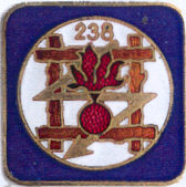 Знак 238-го пехотного полка.