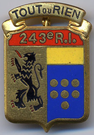 Знак 243-го пехотного полка.