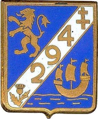 Знак 294-го пехотного полка.