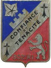 Знак 302-го пехотного полка.