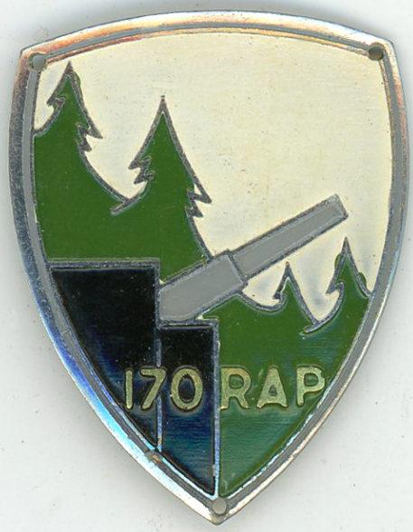 Аверс и реверс знака 170-го полка полевой артиллерии.