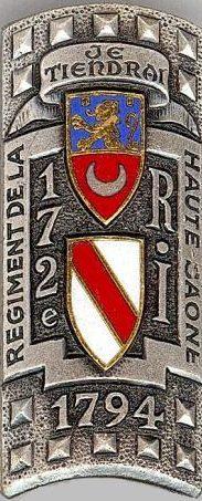 Знаки 172-го пехотного полка крепости.