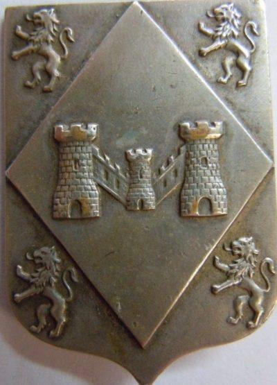 Аверс и реверс знака 101-й пехотной дивизии.