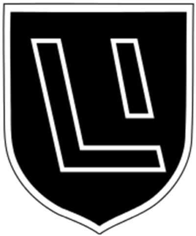 Знак 15-й дивизии СС.