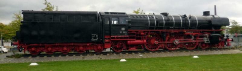 г. Брауншвейг. Локомотив «Дамфлок 01 1063», серия которого, использовалась для перевозки людей в концлагеря.