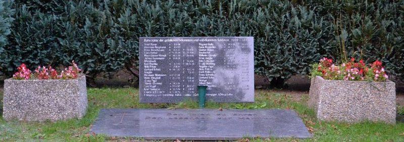 г. Альтландсберг. Памятники на братских могилах немецких солдат, погибших в годы обеих войн.