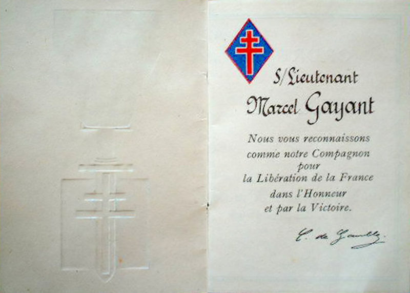 Свидетельства о награждении Орденом Освобождения.