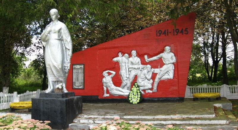 д. Грайно Берестовицкого р-на. Памятник советским воинам.