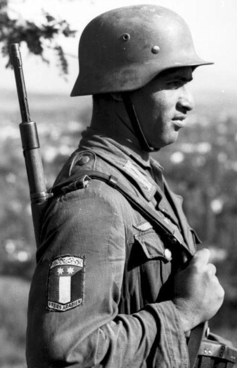 Солдат легиона «Свободная Арабия» в Греции.