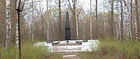 с. Глуховичи Брагинского р-на. Памятник воинам, погибшим в годы войны.