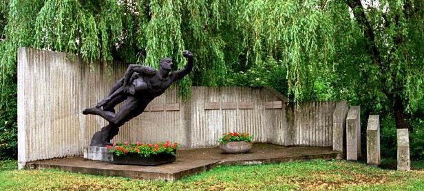 г. Вернигероде. Памятники на месте трудового лагеря, где содержалось 800 заключенных.