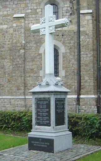 г. Аахен. Памятник у церкви Эйлендорф в память о местных жителях, погибших в годы войны.