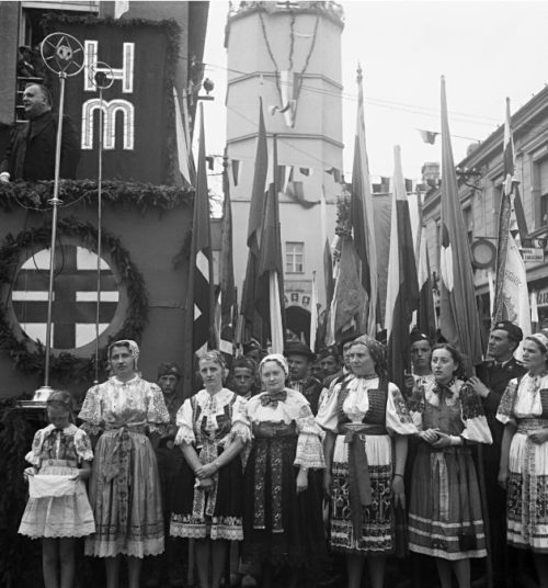 Митинг в поддержку нацистов. Братислава, 1939 г.