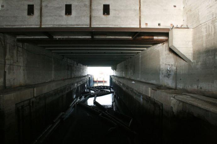 Вид бункера «Keroman III» изнутри.