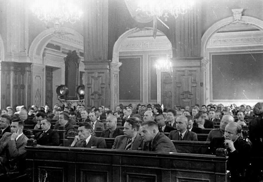 Заседание Латвийского народного сейма. Июль 1940 г.