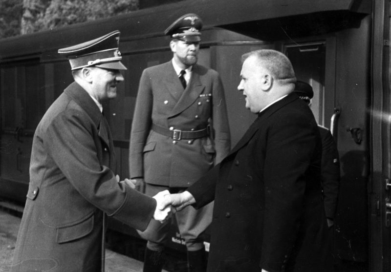 Йозеф Тисо и Гитлер. Октябрь 1941 г.