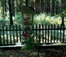 д. Новое Село. Кореличского р-на. Памятник на месте сожжения в 1943 году 75 жителей деревни.