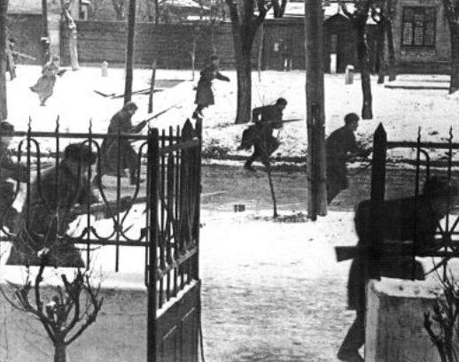 Ростовская наступательная операция. Уличный бой. Ноябрь 1941 год.