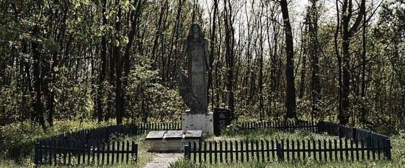 д. Сперижье Брагинского р-на. Памятник погибшим в годы войны.
