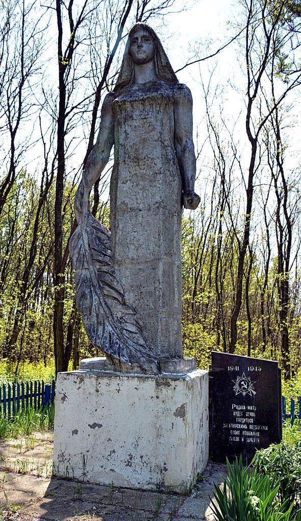 д. Сперижье Брагинского р-на. Памятник воинам, погибшим в годы войны.