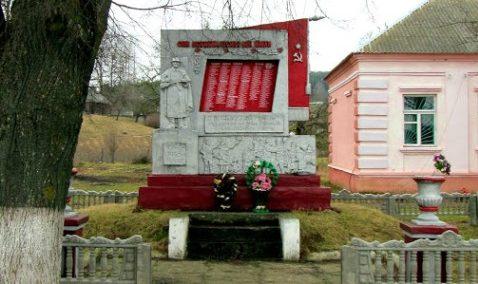 д. Полужье Кореличского р-на. Памятник советским воинам, погибшим в годы войны.