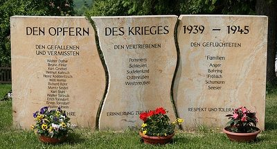 д. Гёршен. Памятник землякам, погибшим в годы обеих мировых войн.
