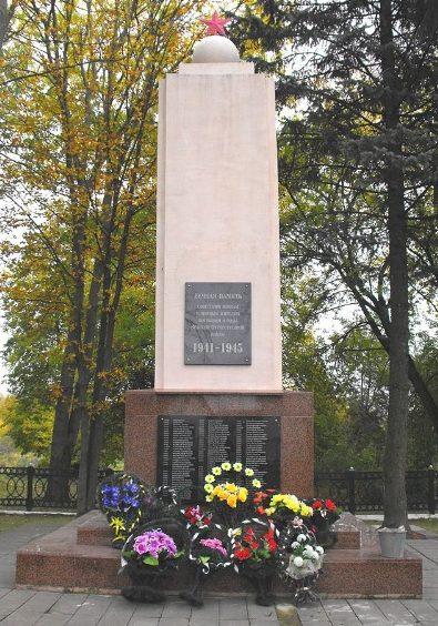 г. Волковыск. Памятник по улице Медведева, установленный на братской могиле, в которой похоронено 4 481 советских военнопленных, из них 4 301 неизвестных.