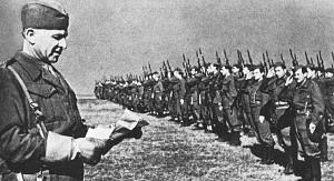 Словацкий батальон под командованием полковника. Л. Свобода в составе Красной Армии выдвигается на Фронт. Январь 1943 г.