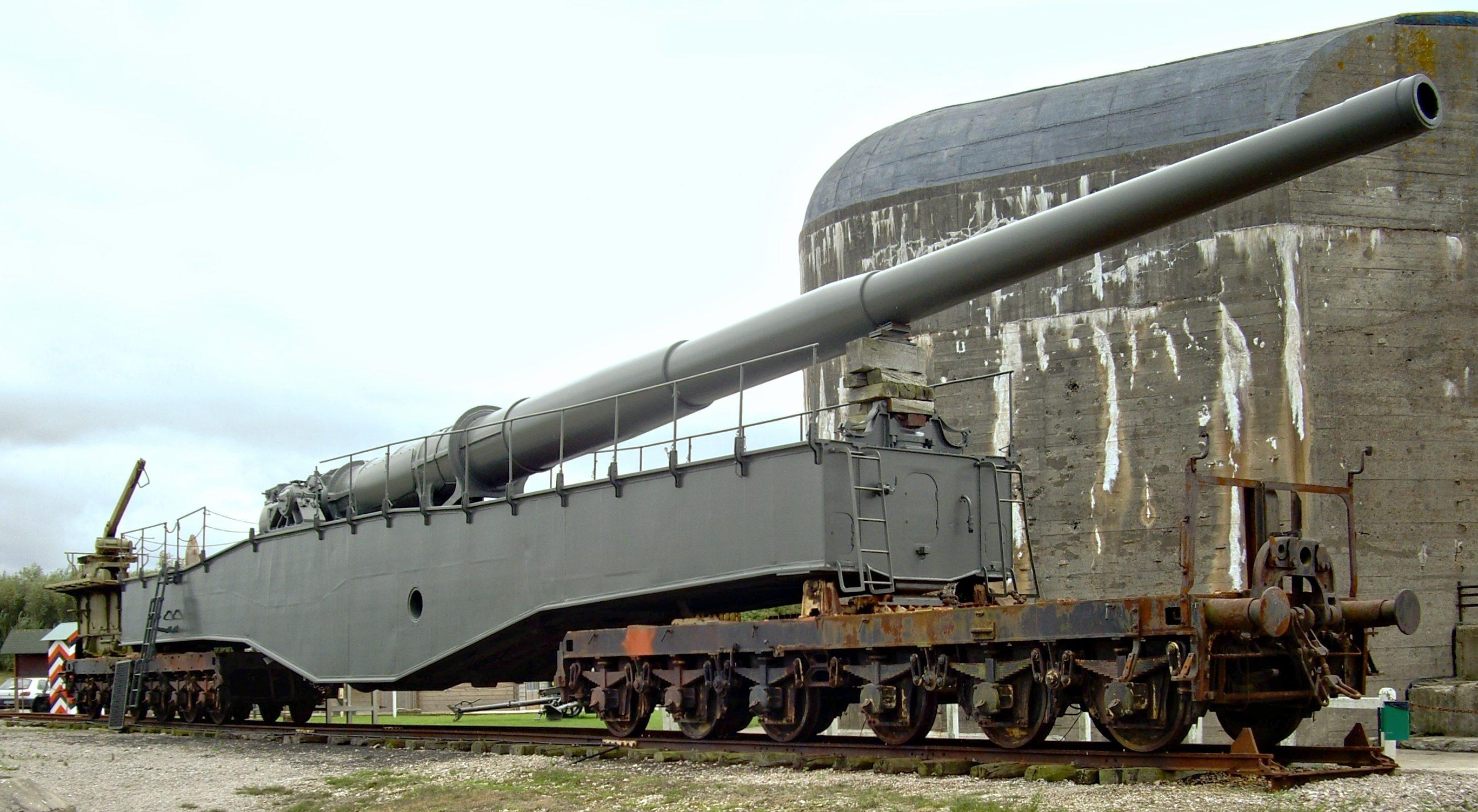 283-мм железнодорожное орудие K5 E.
