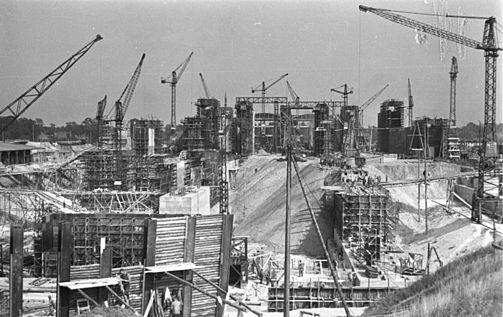 Строительство бункера. 1944 г.