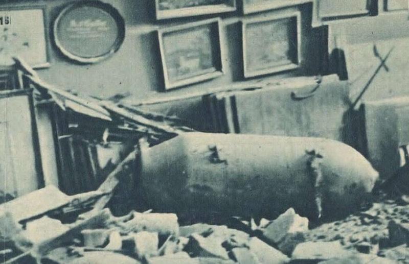 Неразорвавшаяся бомба в квартире. Братислава, 16 июня 1944 г.